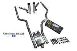 All-stainless Dual Exhaust Kit Chevy Gmc 1500 15-18 Magnaflow Xl Rolled Corner E