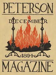 Wall Decor Poster.home Room Art Design.1894 Magazine Cover.fireplace Fire.11687