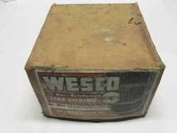 Wesco Vintage New Tire Chains Bar-reinforced No. 1855