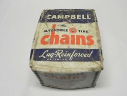 Campbell Vintage New Tire Chains Lug Reinforced No. 1861 Type Rp