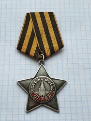 Soviet Ussr Order Of Labor Glory 3 Degrees №564516 Silver