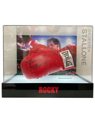 Rocky Boxing Glove In Led Lit Case Signed By Sylvester Stallone 100 With Coa