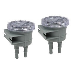 2x Boat Intake Seawater Filter Fits For Hose Size 1 1.25 And 1.5