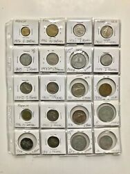Lot Of 20 Old French Coins 1943 To 1991
