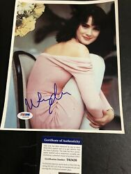 Autographed Winona Ryder 8x10 Photo Psa Certified Signed Sexy Pose