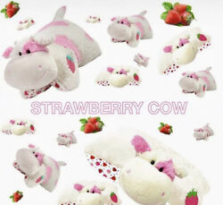 🔥in Hand Strawberry Milkshake Cow Pillow Pet 18 Sweet Scented Sealed And New🔥