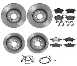 Brembo Xtra Front Rear Brake Kit X-drilled Rotors Low-met Pads For Mini R50 R53