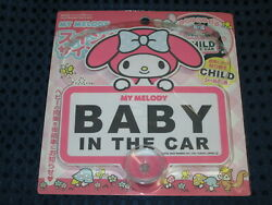 Sanrio My Melody Baby / Child In Car Swing Suction Sign Sticker Not Kitty Japan