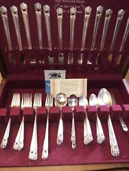 1847 Rogers Bros Silverplate Flatware 59 Pc Set Eternally Yours 8 Place Setting