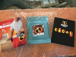 The Incredibles 2 3-discs Steelbook 4k Hd Bluray W/storybook Free Shipping
