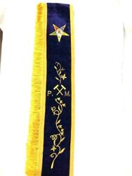 Oes Past Matron Sash With Gavels, Oes Sashes Style B--3039