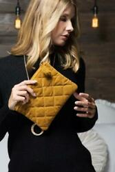 Quilted Velvet Clutch $16.00