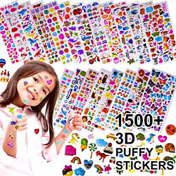 Stickers for Kids 1500 20 Different Sheets 3D Puffy Stickers Bulk Kids for $11.79