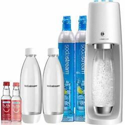 Sodastream Fizzi One Touch Sparkling Water Maker Bundle White With Co2, Bpa