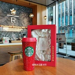 Starbucks 2020 Holiday Limited Edition Red Crystal Handicraft Limited Edition