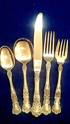 Gorham Buttercup Sterling Flatware Set For 8 With Servers