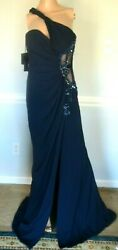 New Nwt Versace Embellished Bustier Evening Dress Long Maxi Gown Us 6 8 / It 44
