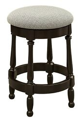Set 3 Amish Traditional Round 24 Counter Height Bar Stools Swivel Upholstered