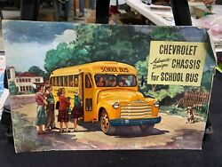 Rare Vintage Advanved Chassis For Chevrolet School Buses Advertising Booklet