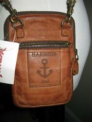 Harbour 2nd Cognac Leather Benita style crossbody for phone amp; credit cards NEW $40.99