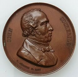 Belgium Bronze/copper Medal To Honor John Cockerill By C. Jehotte 1847 50 Mm