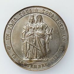 Geneva Joins The Confederation Of Switzerland, 50th Anniv. Medal By Bovy, ¤174
