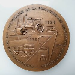 French Bronze Medal 50y Anniversary Albert Cochery By B. Bouyon. 81mm Andcurren267
