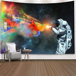 Tapestry Wall Hanging Space Throw Home Decor Astronaut Blanket Bedspread Travel