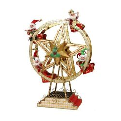 Mark Roberts Christmas 2016 Ferris Wheel With Elves Figurine 43 Inches