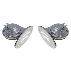 Schmitt Andamp Ongaro Mini Ss Dual Drop-in Horn W/ss Grills High Andamp Low Pitch