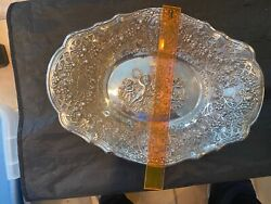Sterling Repousse Bowl Made By Jr Sterling Super Ornate Cheribs 14 Long