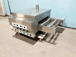 Custom Made Stainless Steel Commercial Propane 18w Conveyor Pizza Oven