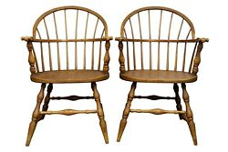 Antique Heywood Wakefield Windsor Dining Chairs - A Pair