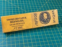 Early Vintage 1900and039s Eberhard Faber Mongol No 482 Box For Collectors Box Only