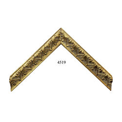 Custom Picture Frame | 1w 1 1/8h 1/2r Ornate Gold | Great For Art Photo