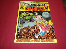 Ta1 Marvel Feature 2 Marvel 1972 Bronze Age 4.5/vg+ Comic 2nd Defenders