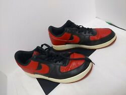 Rare Nike Air Force 1 Low Gs Bred Black Gym Red White Sneaker 10.5