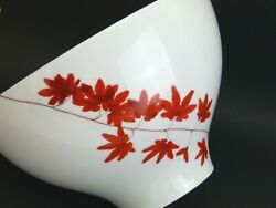 Retired/discontinued Mikasa Porcelain Pure Red Large 9 Serving Salad Bowl