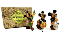 Rare 1930s Ideal Films Mickey Mouse Musical Trio Soap Set Irving Rice Ny Germany