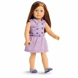 Nib American Girl Travel In Style Dress Outfit Purple Shoes Courtney Tenney