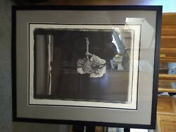 Stevie Ray Vaughan Original Print Numbered And Signed. Number 1993/2500.