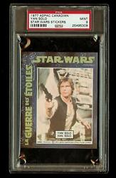 Han Solo 1977 Star Wars Adpac General Mills Cereal Sticker Psa 9 Canadian