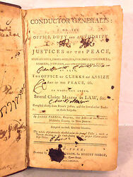 Antique Book Conductor Generalis Or Office Duty Of Justices Of The Peace 1788