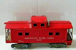 Vintage American Flyer Lines Caboose Rd 938 - Incomplete - S Scale