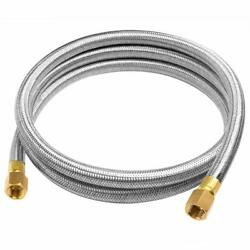 6ft Stainless Steel Propane Extension Hose 38inch Male X Female Flare Fittings