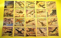 Vintage 1940's Wwii - Coca Cola America's Fighting Planes - All 20 With Envelope