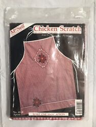 McNeill Chicken Scratch Apron Kit #8118 Vtg 1984 Red White Gingham Sealed