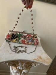 Tropical Fish Sequin Beaded Evening Bag Purse Chain Crossbody 10in Pink Fish $19.74