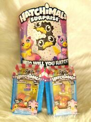 Hatchimals Surprise Twin Pink/yell/purp W/2 Hatchimals Colleggtibles See Descrp