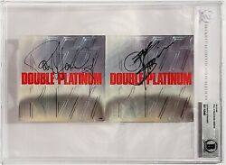 Gene Simmons And Paul Stanley Signed Autographed Kiss Cd Cover Beckett Bas Slabbed
